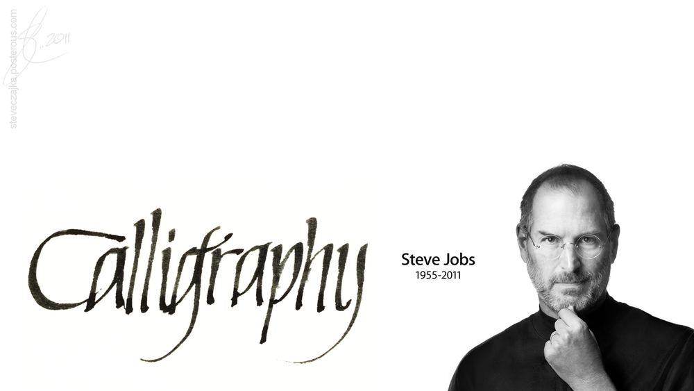 Steve jobs hd signature Calligraphy as a career
