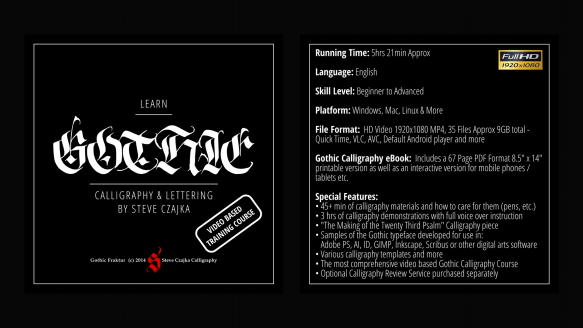 Learn Gothic Calligraphy DVD Cover sm