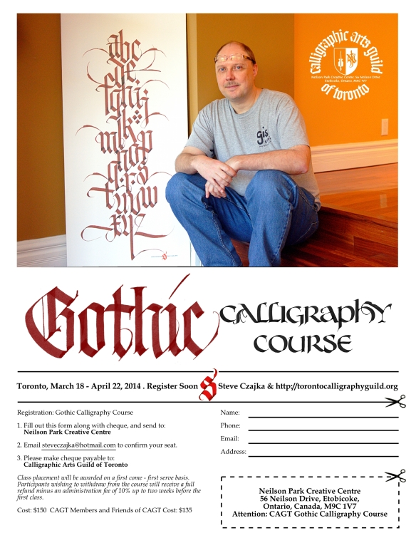 Gothic Calligraphy Course Brochure