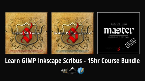 GIMP Inkscape Scribus - Course Bundle